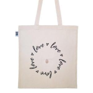 crystal love bag front