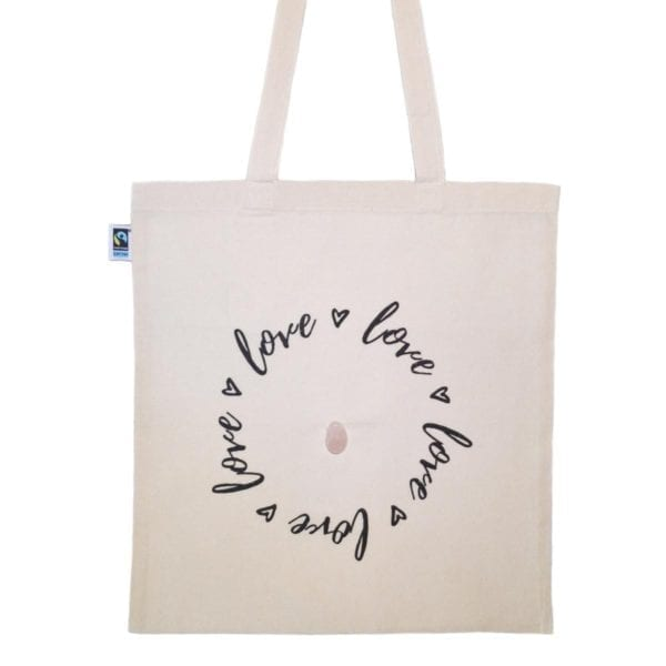 crystal love bag front