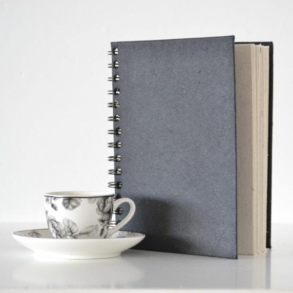 Plain Notebook Black with decor
