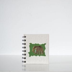 The Brass Elephant (3D) Notebook Green