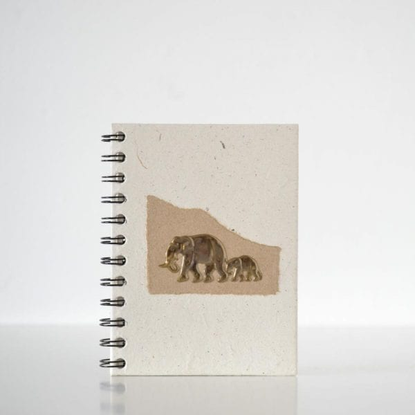 Brass Elephant (3D) Notebook Nude