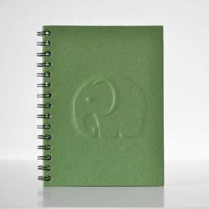 Elephant Embossed (3D) Notebook Green