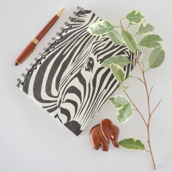 Animal print Notebook Zebra decor