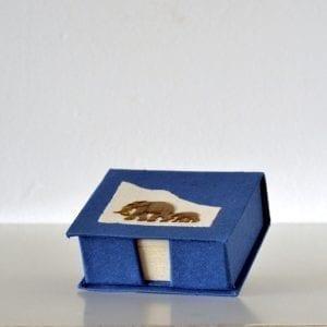 Brass Elephant (3D) Notebloc – Elephant Poo Paper