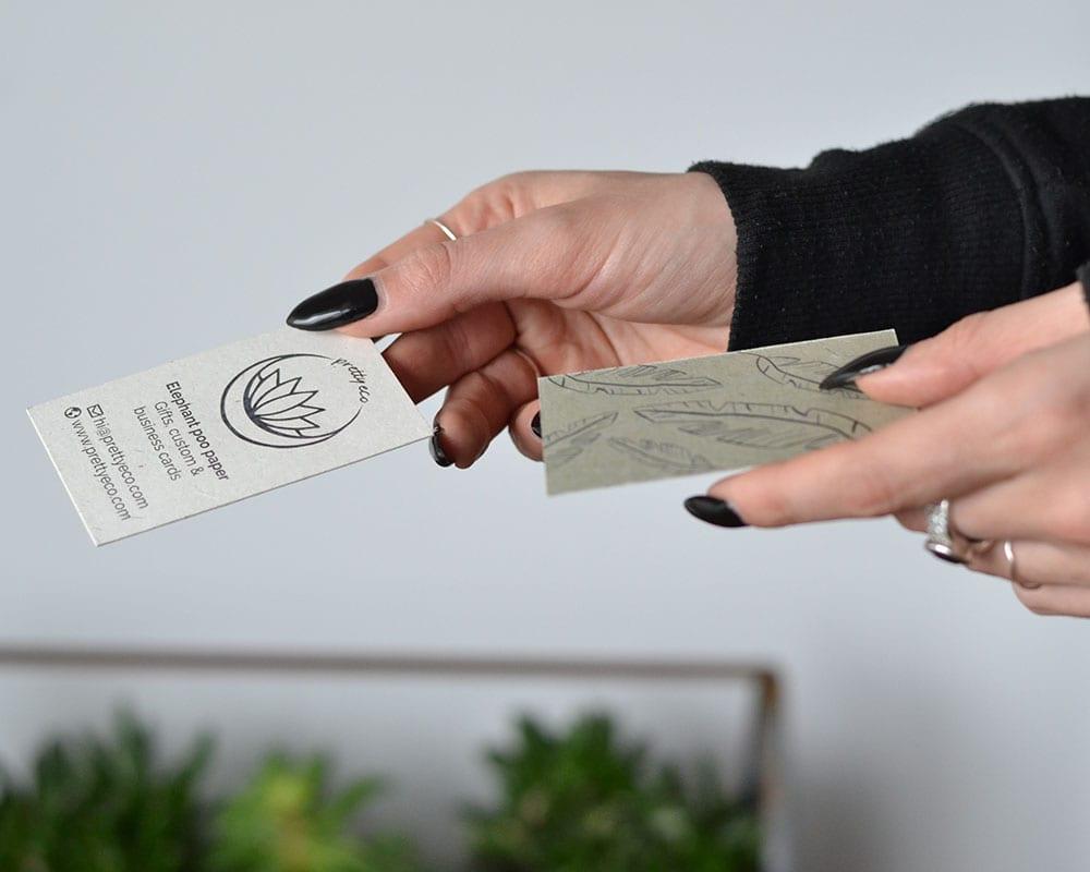 olifantenpoeppapier visitekaartjes voorbeeld 1