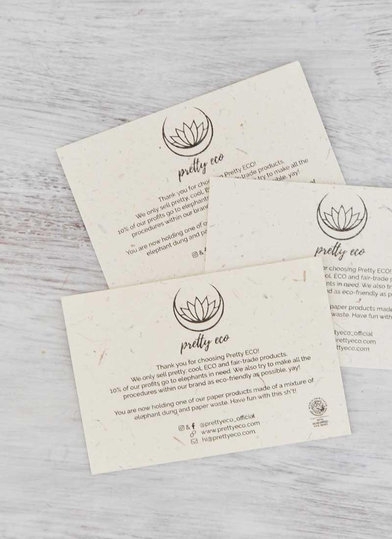 olifantenpoeppapier visitekaartjes voorbeeld 2