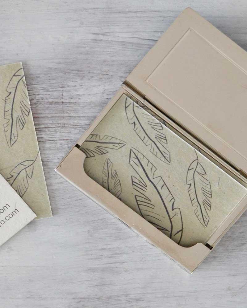 olifantenpoeppapier visitekaartjes voorbeeld 3