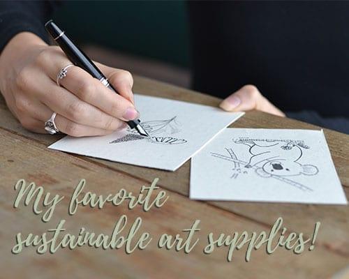 sustainable art supplies