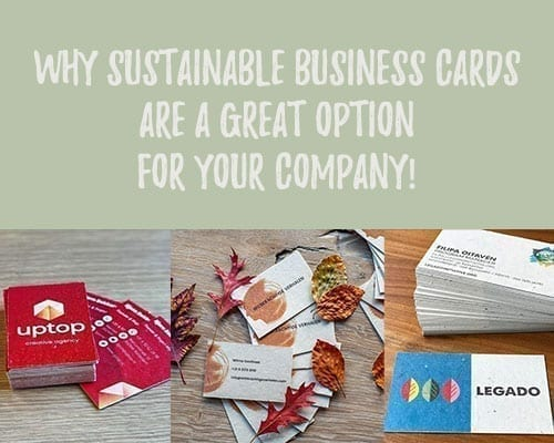 why sustainable business cards title